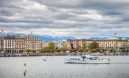 Geneva Lake Front - Lake Geneva Cruise Boat Royalty Free Stock Photo