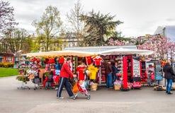 Geneva Lake Front - Souvenir Stall Royalty Free Stock Image