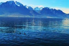 Geneva Lake, Montreaux, Switzerland Stock Photos