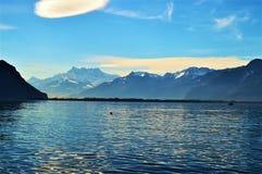 Geneva Lake, Montreaux, Switzerland, Europe Stock Photos