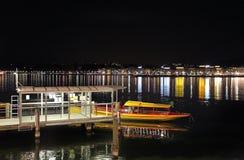 Geneva lake by night. Switzerland Stock Photos