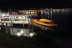 Geneva lake by night. Switzerland Royalty Free Stock Photos