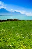 Geneva lake in summer Stock Image