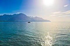 Geneva lake in Switzerland Stock Photos