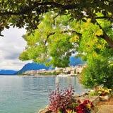 Geneva lake view Royalty Free Stock Images