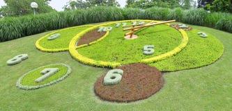 Geneva landmark. The famous landmark flower clock of Geneva, Switzerland Royalty Free Stock Photo