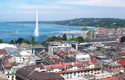 Geneva and the Leman Lake Stock Photography