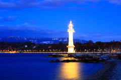 Geneva lighthouse Stock Image