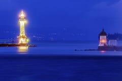 Geneva Lighthouses Stock Photos