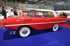 Red and white Amphicar Royalty Free Stock Photos