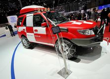 Tata Safari Storme mountain rescue concept Stock Image