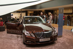 Geneva Motor Show 2009 - Mercedes E 250 CDI Stock Image