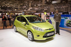 Geneva Motor Show 2009 - New Ford Fiesta Royalty Free Stock Images