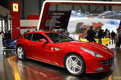Geneva Motor Show 2011 – Ferrari FF. Ferrari FF car on display at the 81th edition of the annual Geneva Motor Show in Switzerland. This is  one of the most Stock Photos