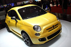 Geneva Motor Show 2011 – FIAT 500 Zagato. FIAT 500 Zagato car on display at the 81th edition of the annual Geneva Motor Show in Switzerland. This is  one of Stock Photography