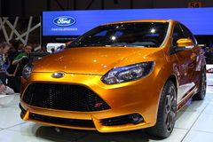 Geneva Motor Show 2011 – FORD Focus ST. FORD Focus ST car on display at the 81th edition of the annual Geneva Motor Show in Switzerland. This is  one of the Stock Photos