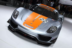 Geneva Motor Show 2011 – Porsche 918 RSR. Porsche 918 RSR car on display at the 81th edition of the annual Geneva Motor Show in Switzerland. This is  one of Royalty Free Stock Images