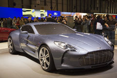 Geneva Motor Show - Aston Martin One 77 Stock Images