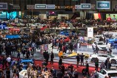 Geneva Motor Show visitors Royalty Free Stock Images