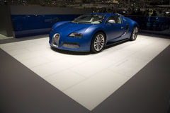Geneva Motorshow 2009 - Bugatti Veyron Centenaire. Bugatti Veyron Centenaire at the Geneva Motor Show 2009 Edition.  This is the 79th edition of this annual Royalty Free Stock Images