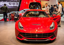 Geneva Motorshow 2012 - Ferrari F12 Berlinetta Royalty Free Stock Photo