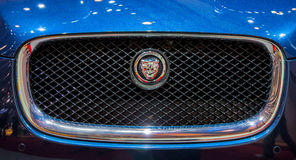 Geneva Motorshow 2012 - Jaguar Front Grill Royalty Free Stock Photos