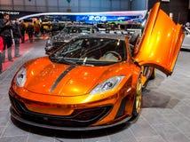 Geneva Motorshow 2012 - Mansory McLaren MP4-12C Royalty Free Stock Image