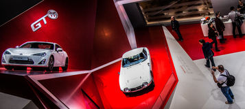 Geneva Motorshow 2012 - Toyota 2000 GT and GT 86 Royalty Free Stock Photography