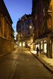 geneva natt Fotografering för Bildbyråer