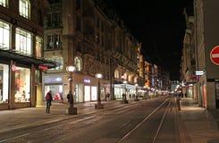 Geneva by night. Switzerland Royalty Free Stock Images