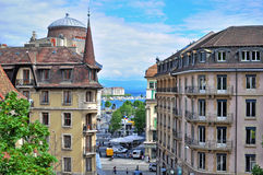 Geneva old town, Switzerland Royalty Free Stock Images