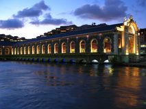 geneva opera switzerland water Royaltyfri Foto