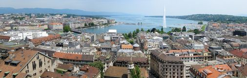 Geneva panorama Royalty Free Stock Photos