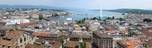 Geneva panorama royalty free stock photos