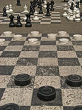 Geneva, Parc des Bastions 01. The famous over-sized chess boards in Parc des Bastions in Geneva, Switzerland Stock Photo