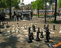 Geneva, Parc des Bastions 07. The famous over-sized chess boards in Parc des Bastions in Geneva, Switzerland Stock Photography