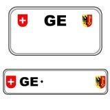 Geneva plate number, Switzerland Royalty Free Stock Photography