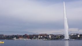 Geneva See und Jet-d'Eau stock video footage