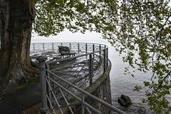 Geneva See und Ufer lizenzfreies stockfoto