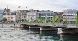 Geneva skyline, Switzerland Royalty Free Stock Photos