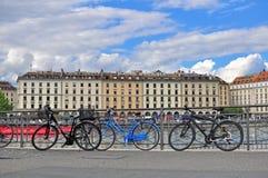 Geneva skyline, Switzerland Royalty Free Stock Image