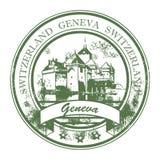 geneva stemplowy Switzerland royalty ilustracja
