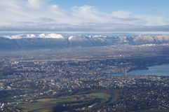 Geneva. / Switzerland - city view form nearby mountain Stock Images