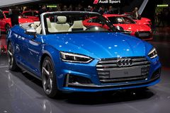 Audi S5 car. GENEVA, SWITZERLAND - MARCH 7, 2017: Audi S5 car showcased at the 87th Geneva International Motor Show Stock Photography