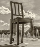 Geneva, Switzerland. Monument Broken Chair. Stock Images