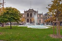 GENEVA, SWITZERLAND - OCTOBER 30, 2015: Street in Old town of city of Geneva Stock Image