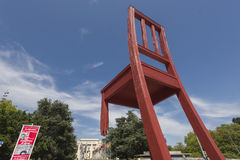Geneva Switzerland The Place des Nations iand the Broken Chair Stock Image