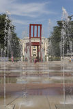 Geneva Switzerland The Place des Nations iand the Broken Chair Royalty Free Stock Images