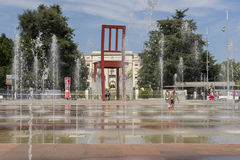 Geneva Switzerland The Place des Nations iand the Broken Chair Royalty Free Stock Photo