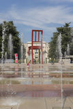 Geneva Switzerland The Place des Nations iand the Broken Chair Stock Photo